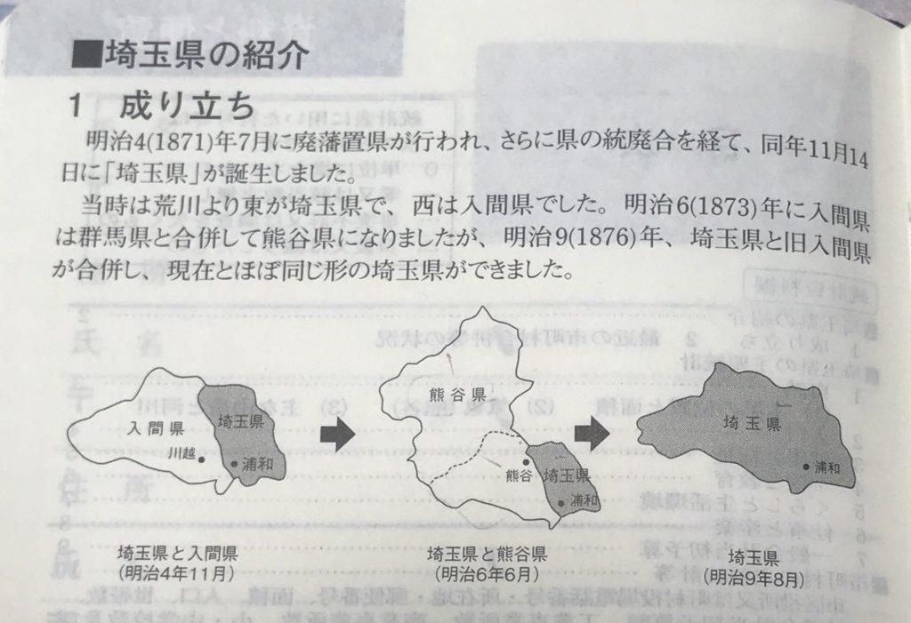 埼玉県民手帳の埼玉県の成り立ち