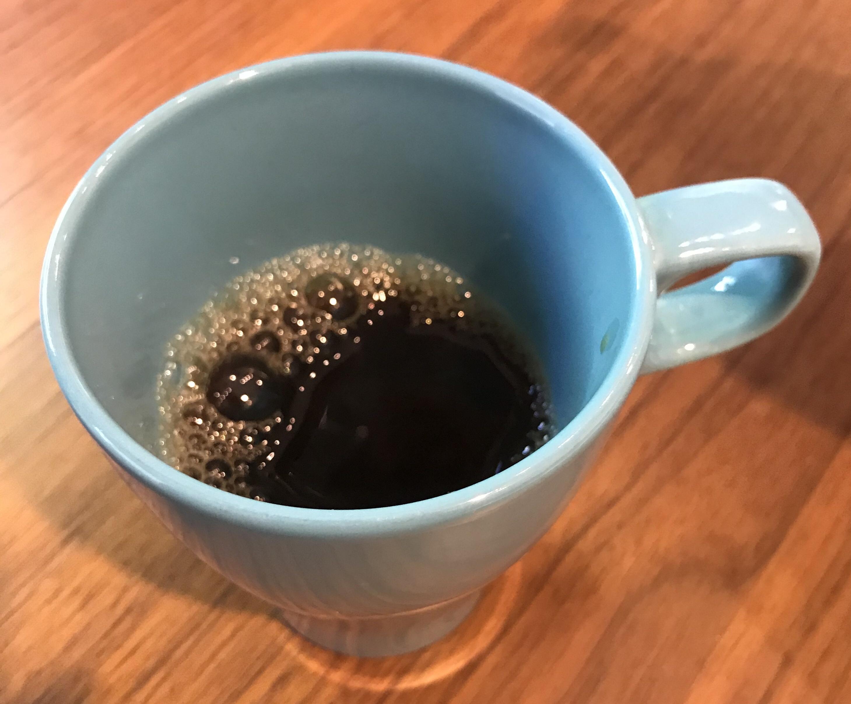 友人が淹れてくれたスペシャルコーヒー