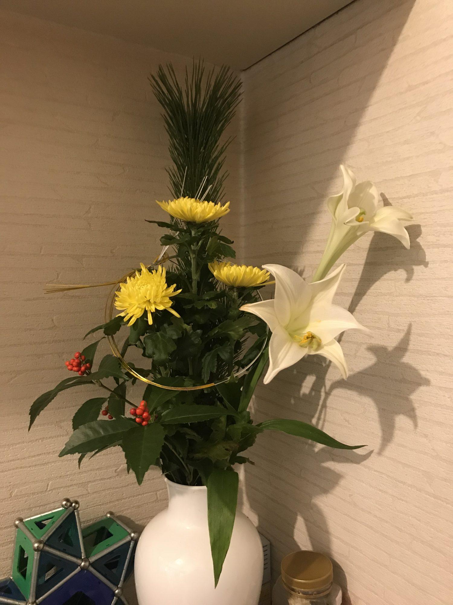 お正月にいけるお花