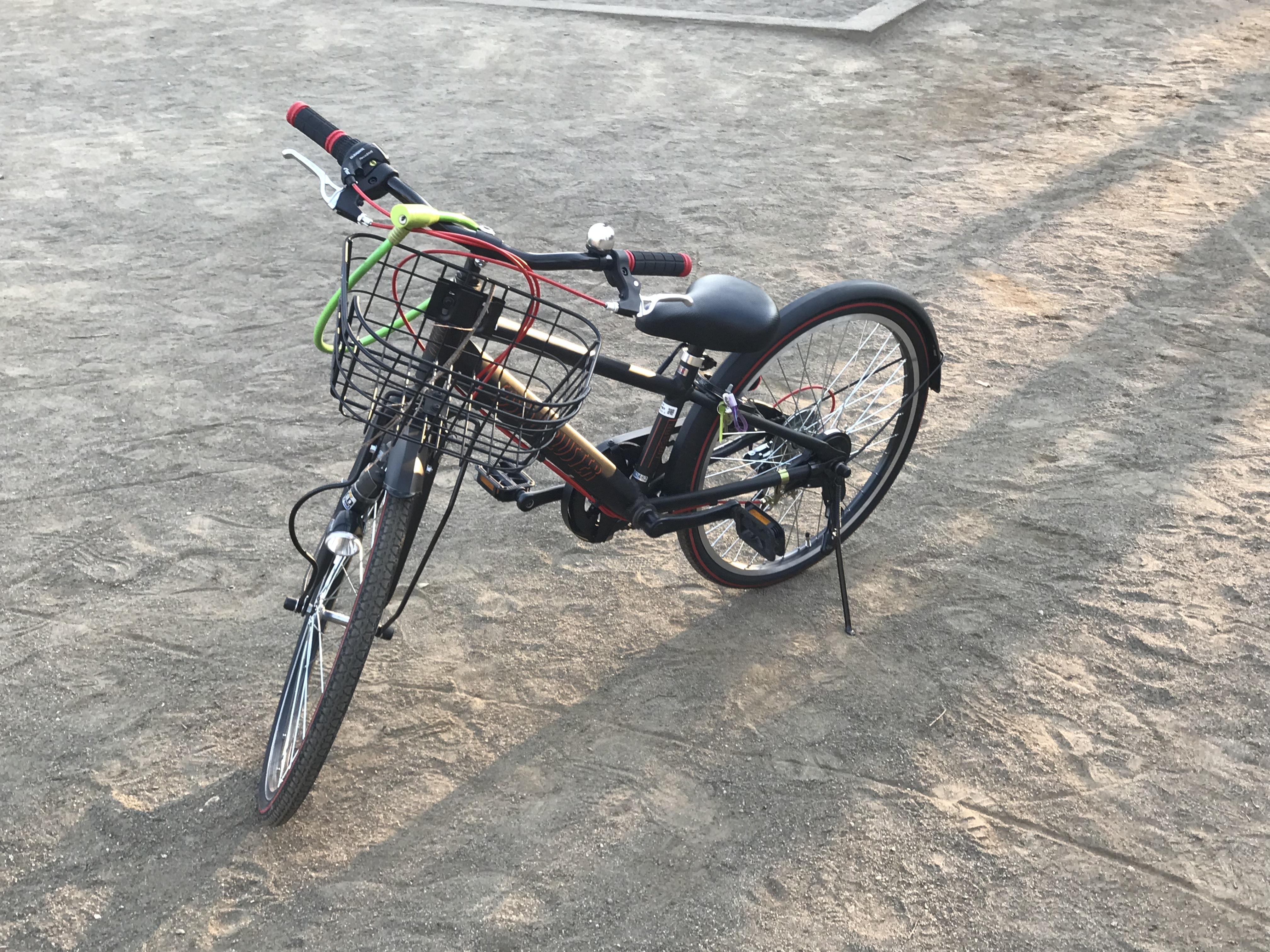 子どもの新しい自転車