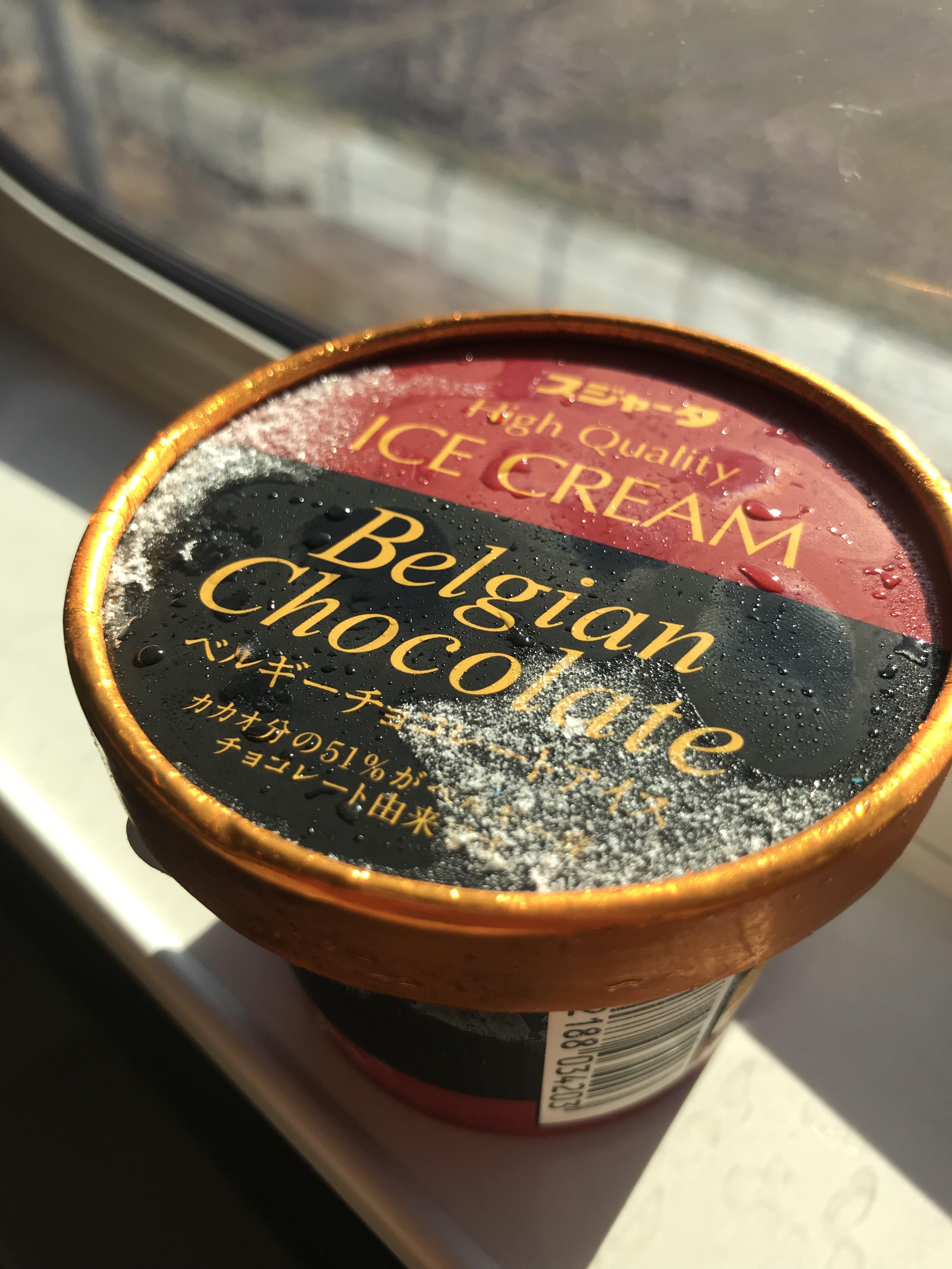 車内販売のベルギーチョコレートアイスクリーム