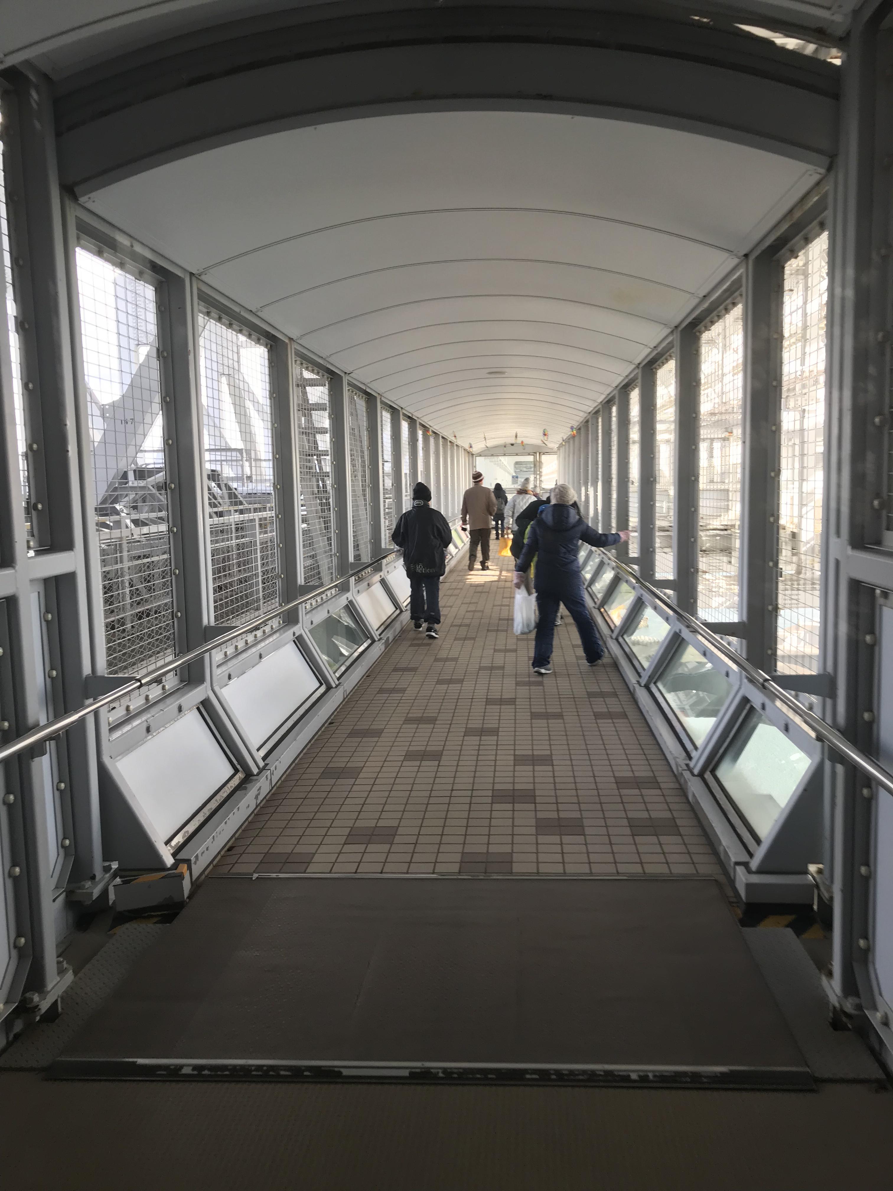 渦の道,鳴門大橋の下