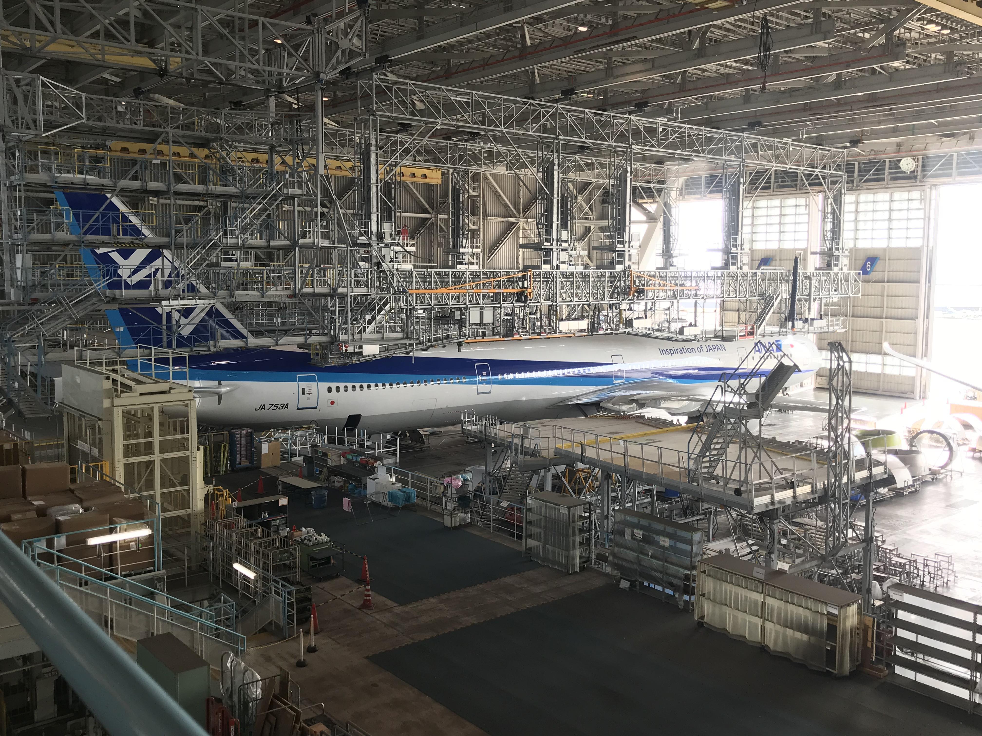 ANA機体工場見学ツアー