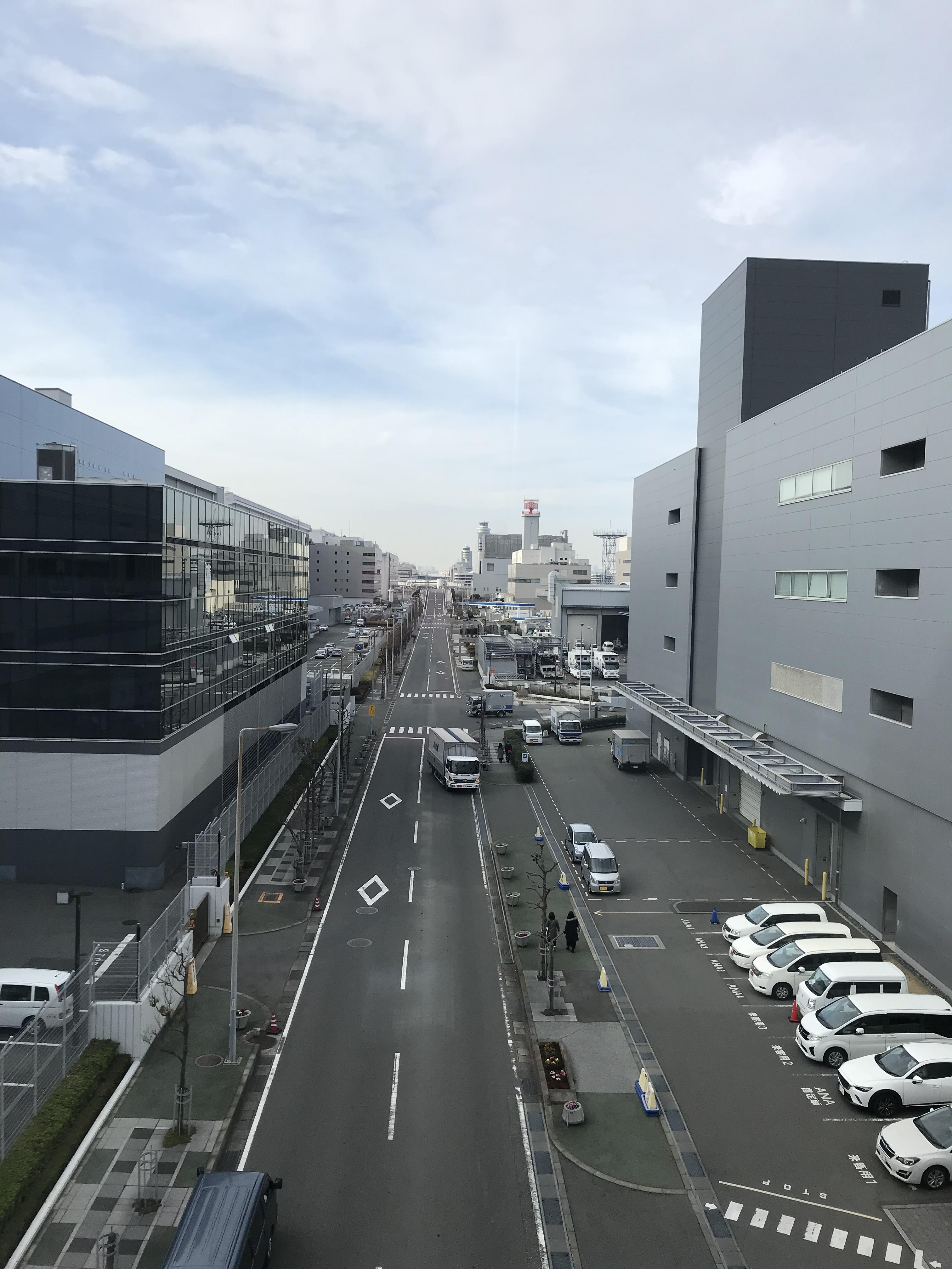東京モノレール新整備場駅までの道のり
