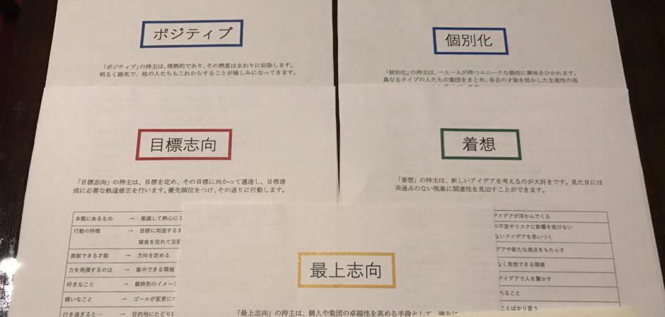 静美千子さんのストレングスファインダー個別セッション(上位資質5位)